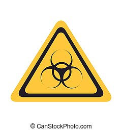 biohazzard yellow warning sign - Yellow Diamond sign with an...