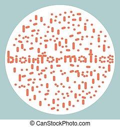 Bioinformatics - Illustration of bacteria align in...