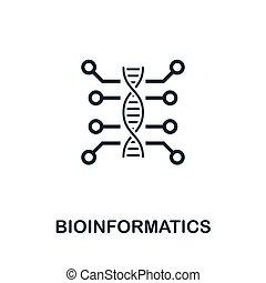 Bioinformatics vector icon symbol. Creative sign from...