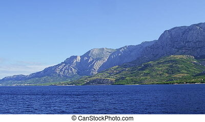 Biokovo mountain sea side - Biokovo mountain shot from sea...