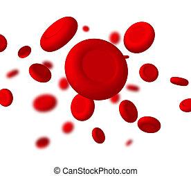 biológia, tudomány, orvosi, cell., genetikai, vektor, piros, vér, makro, orvosság, erezet, health.