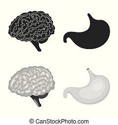 biologi, illustration., kollektion, vektor, design, ...