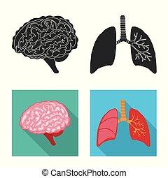 biologi, vetenskaplig, stock., symbol., kollektion, vektor, ...