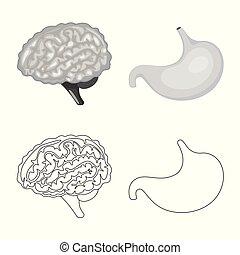 biologi, vetenskaplig, symbol, web., symbol., illustration, ...