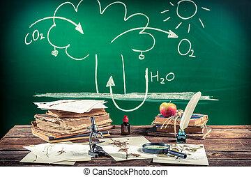 biologia, fotossíntese, lição
