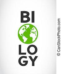 biologia, słowo, i, świat, symbol