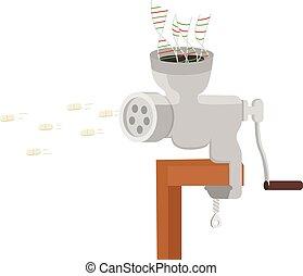 Biologic drugs development conceptual illustration