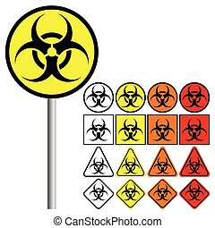 Biological Hazards ( Biohazard ) Symbol Icon - Biological...