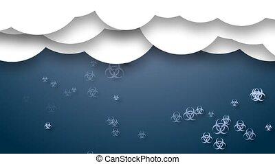 Biological pollution. Polluted rain. Danger. - Biological...