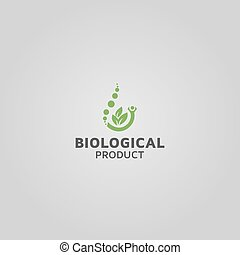 biological product vector logo design