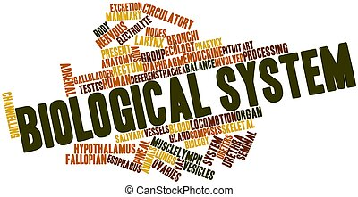 Biological system - Abstract word cloud for Biological...