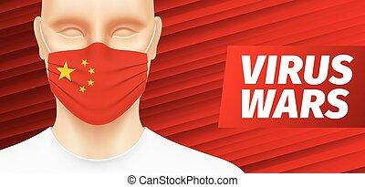 Biological war vector banner design.