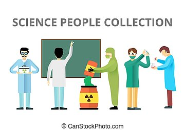 biologie, gens, science, radiation, vecteur, laboratoire
