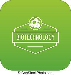 biologie, vektor, grün, forschung, ikone