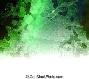 biologique, résumé, arrière-plan vert