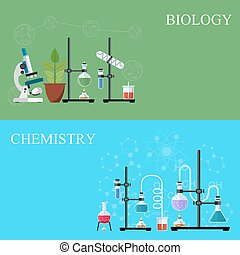 Biology and Chemistry laboratory workspace