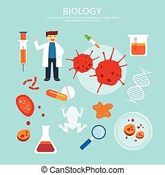 biology background education concept flat design