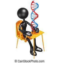 Biology Class - 3D Concept And Presentation Figure
