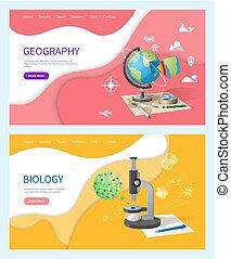 Biology Discipline in School, Geography Subject