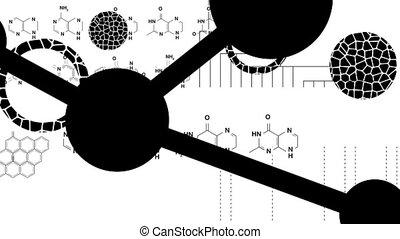 Biology Graphics Mono Loop HD - Random, blinking, animated...