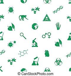 biology icons seamless pattern eps10