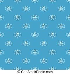 Biology pattern vector seamless blue