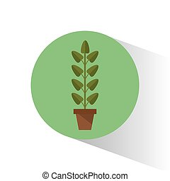 biology plant pot school vector illustration eps 10