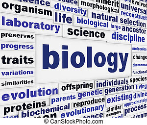 Biology scientific message background