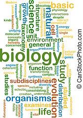Biology wordcloud concept illustration