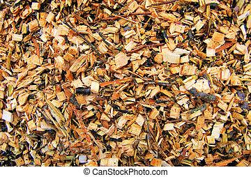 biomass, hout breekt af