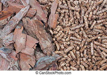 Biomass- material and pellets - Pine biomass and pellets -...