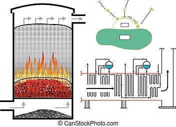 Biomass power energy.Vector design, illustration.