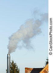 Biomass smokestack chimney