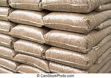 Biomass - Sacks with  biomass