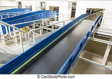 Biomass waste plant conveyer