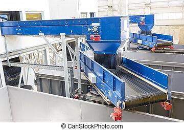 Biomass waste plant inside