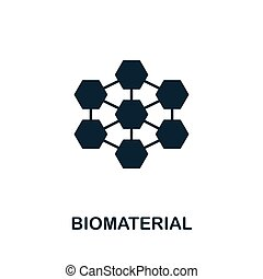 Biomaterial vector icon symbol. Creative sign from biotechnology icons collection. Filled flat Biomaterial icon for computer and mobile