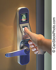 Biometric access - Fingerprint used as an identification ...