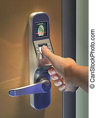 Biometric access - Fingerprint used as an identification...
