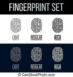 Fingerprint - Biometric Fingerprints Set for Security ID on...