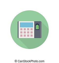 biometric  flat color icon