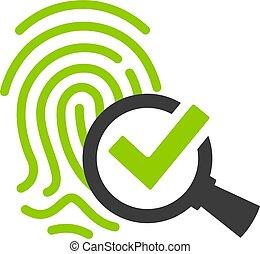 biometric, icono, identificación