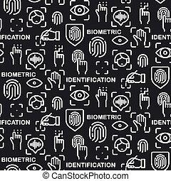 biometric, identificação, padrão