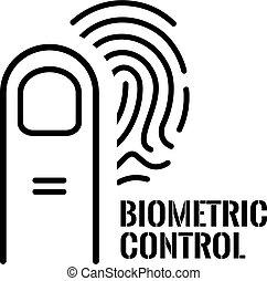 biometric, identificación, icono, vector
