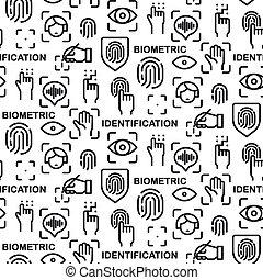 biometric identification pattern - illustration of the ...