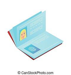 Biometric international passport with hand fingerprint security for travel