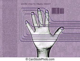 biometric, mano