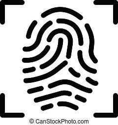 biometric vector colour line  icon