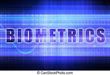Biometrics on a Tech Business Chart Art