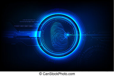 illustration of abstract biometrics technology background